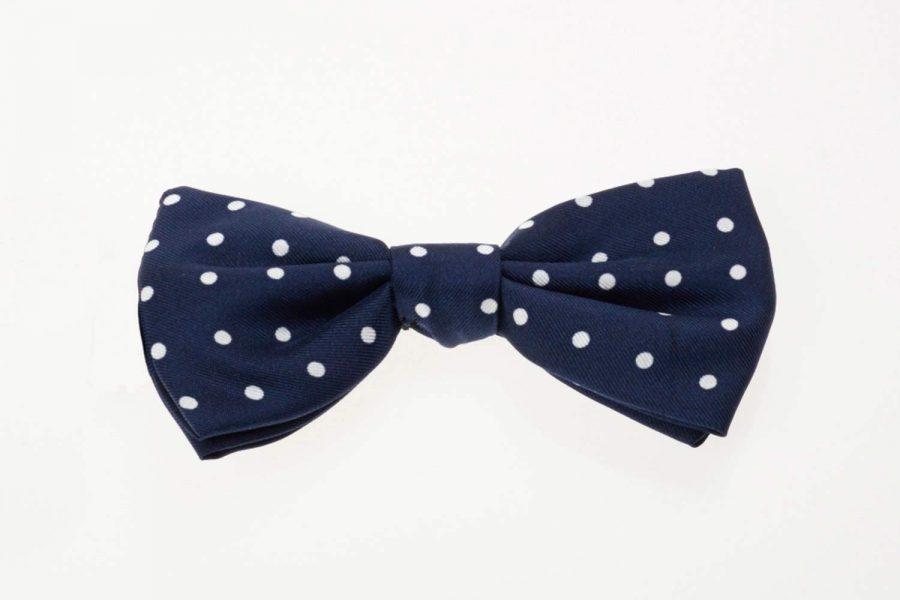 Παπιγιόν Μπλε με Λευκό Πουά | Andrew's Ties