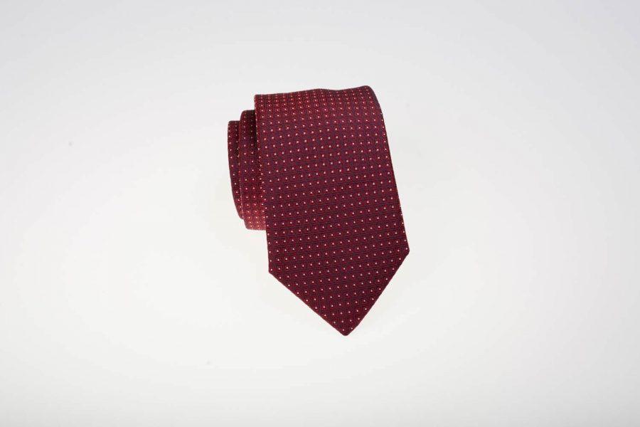 Γραβάτα Κόκκινη με Λευκά Dots | Andrew's Ties