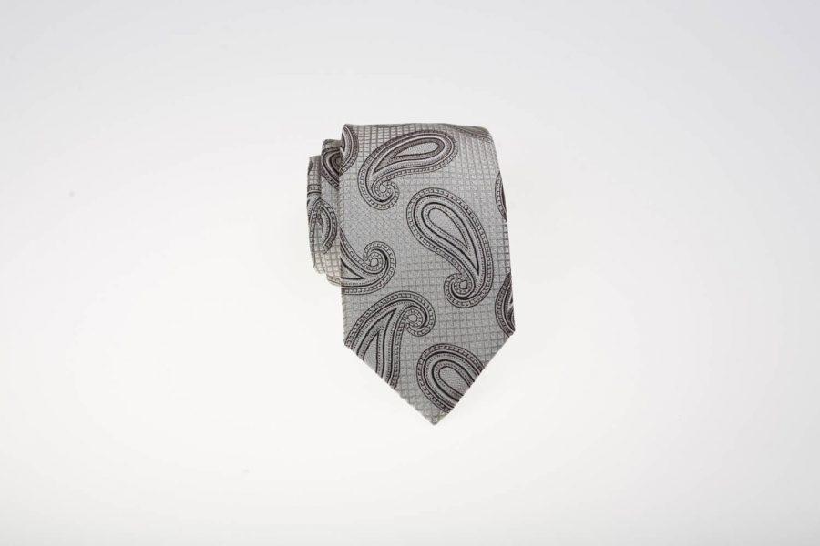 Γραβάτα Γκρι με Λαχούρι | Andrew's Ties