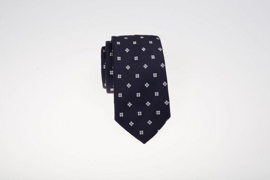 Γραβάτα Μπλε με Λευκό Fantasy | Andrew's Ties