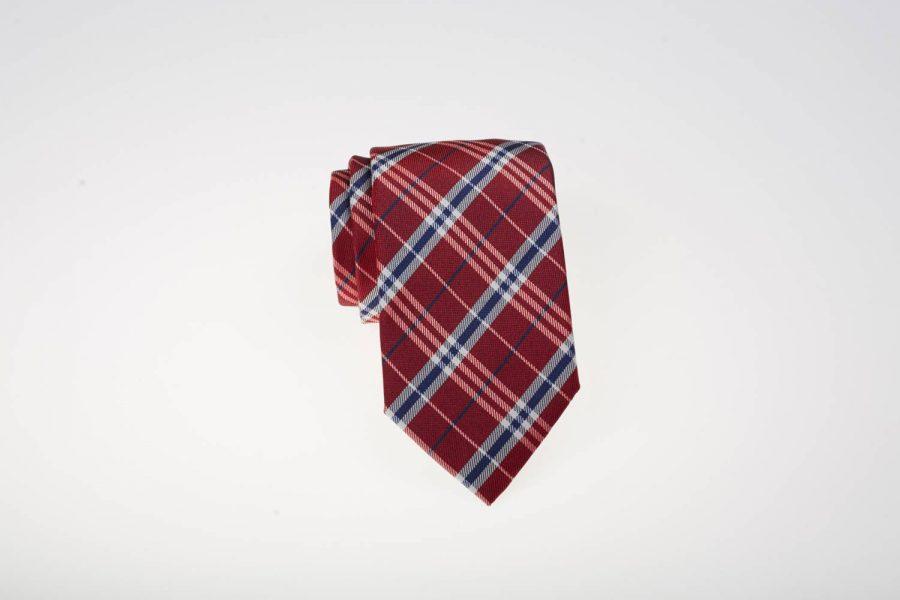 Γραβάτα Κόκκινη μπλε Μετάξι | Andrew's Ties