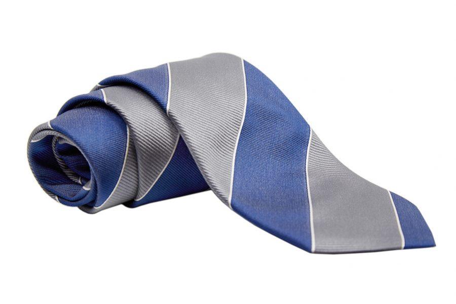 Γραβάτα με γκρι και μπλε ρίγα
