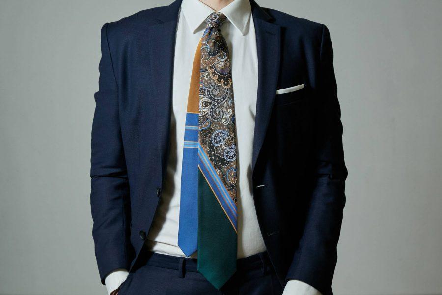 Γραβάτα Πολύχρωμη Λαχούρι, Double Sided, Μετάξι 100%