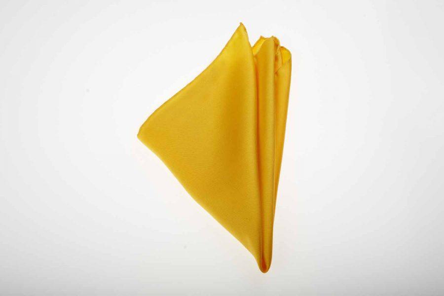 Pochette κίτρινο μονόχρωμο, Μετάξι 100%