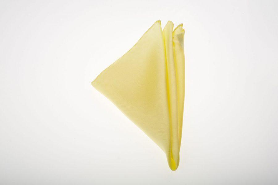 Pochette Κίτρινο Απαλό Μονόχρωμο, Μετάξι 100%