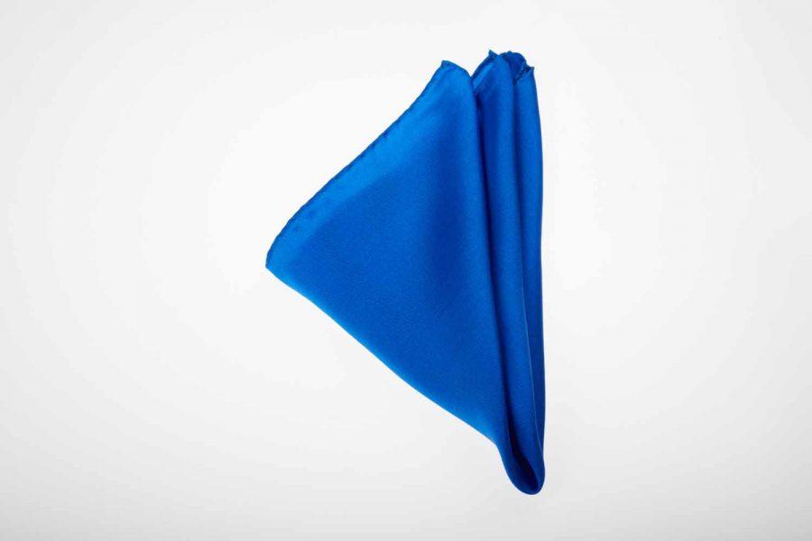 Pochette μπλε ηλεκτρίκ μονόχρωμο, Μετάξι 100%