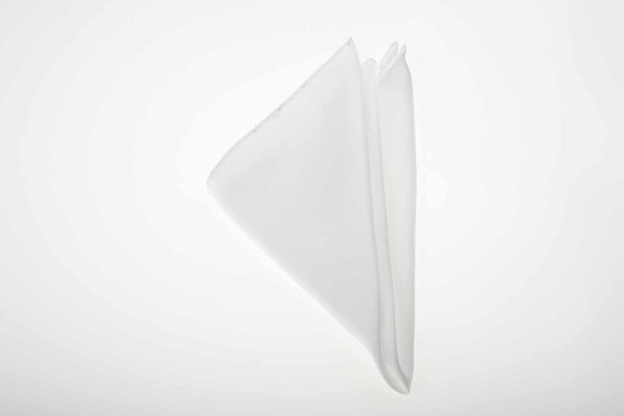 Pochette λευκό μονόχρωμο, Μετάξι 100%