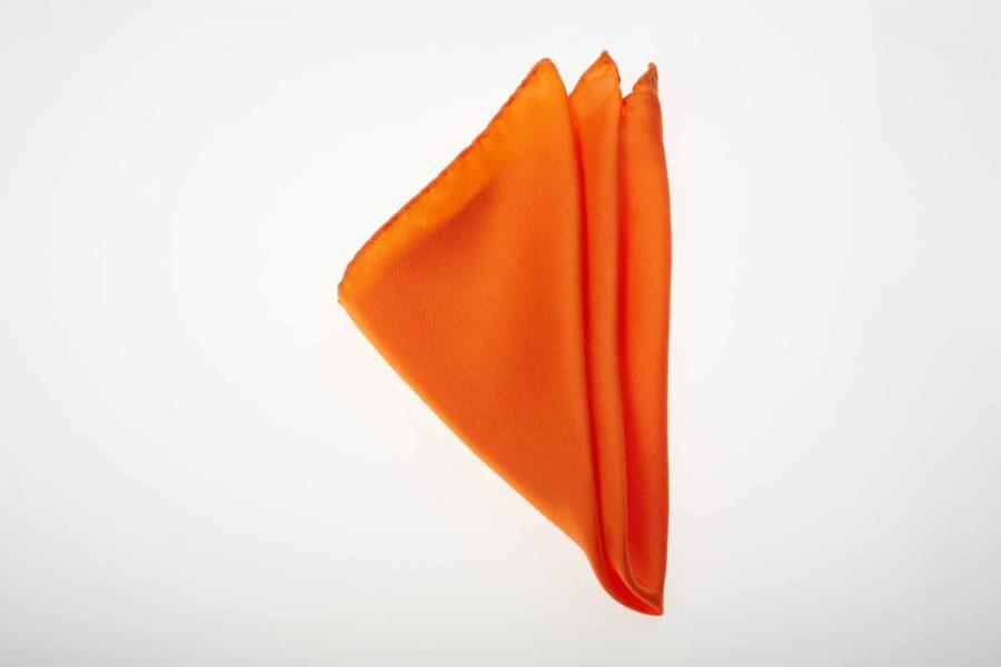 Pochette πορτοκαλί μονόχρωμο, Μετάξι 100%