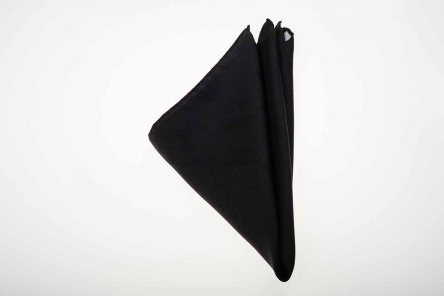 Pochette μαύρο μονόχρωμο, Μετάξι 100%