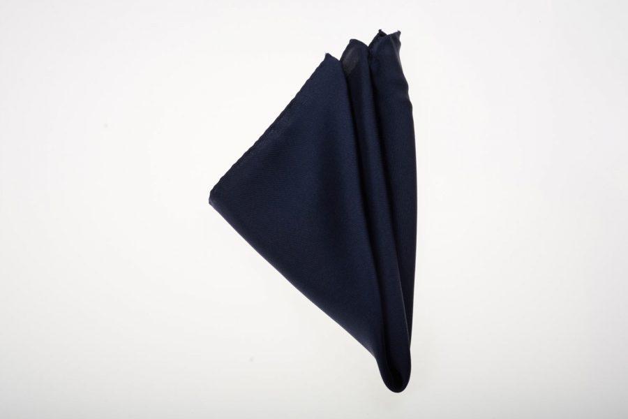 Pochette Μπλε Σκούρο Μονόχρωμο, Μετάξι 100%