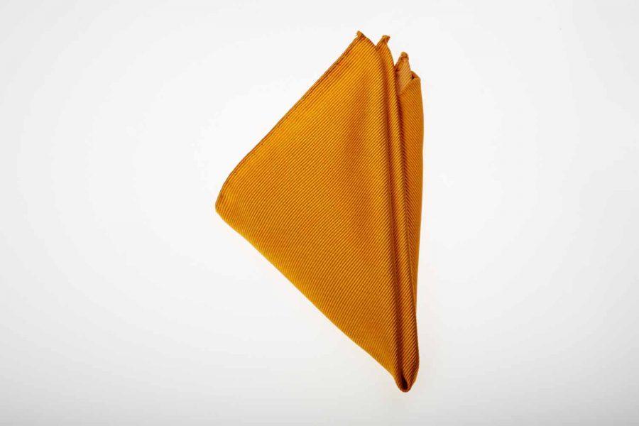 Pochette κίτρινο - πορτοκαλί μονόχρωμο, Μετάξι 100%