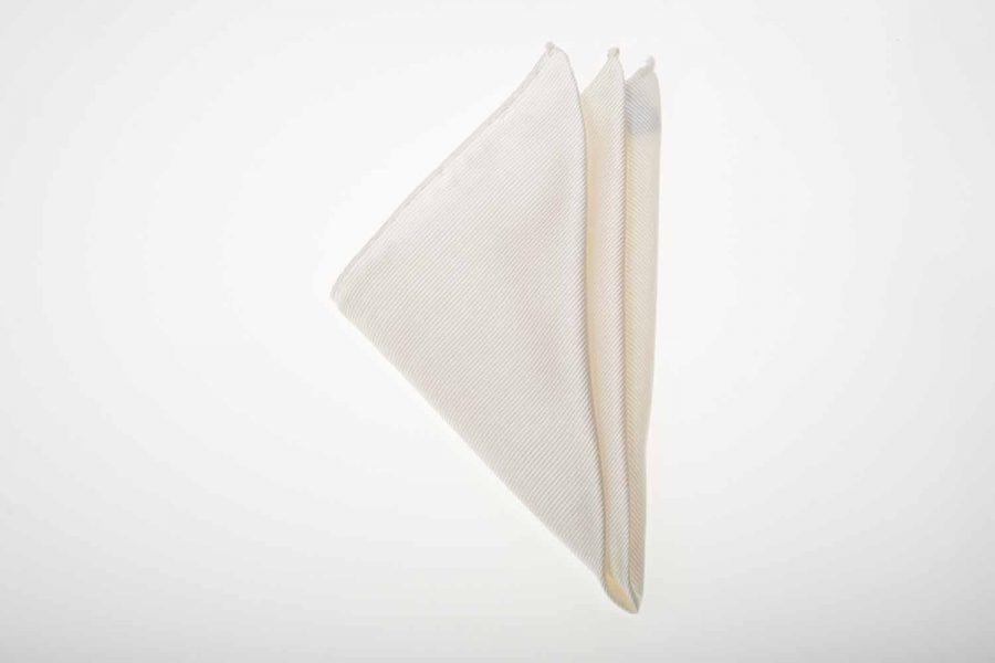Pochette σπασμένο λευκό μονόχρωμο, Μετάξι 100%