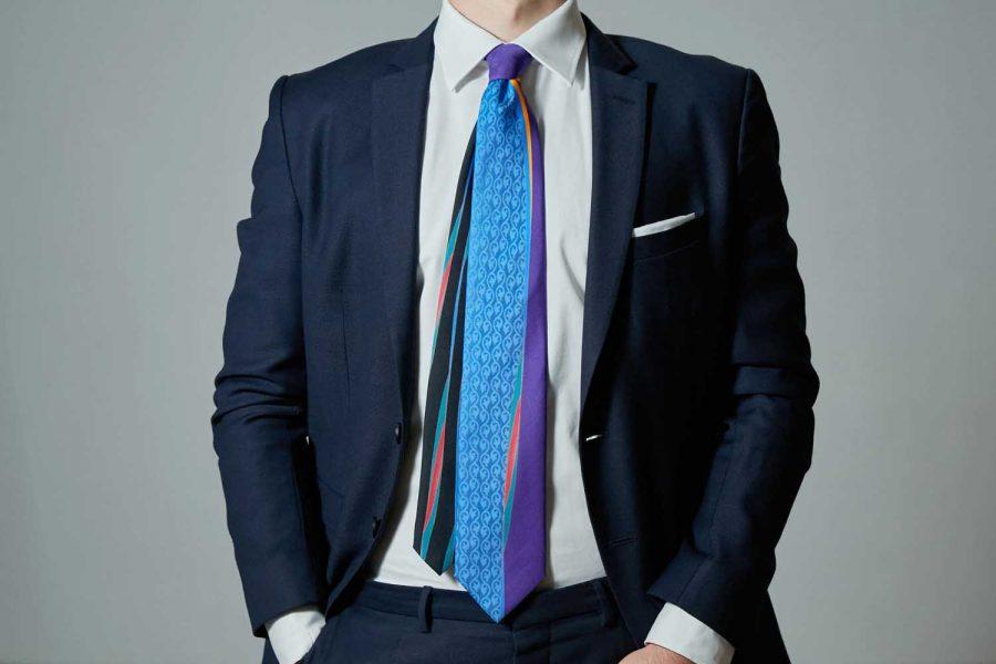 Γραβάτα με λαχούρι, Μετάξι 100%