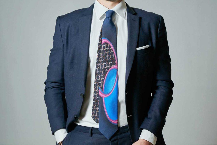 """Γραβάτα συλλεκτική """"Concept 2019"""", Μετάξι 100%"""