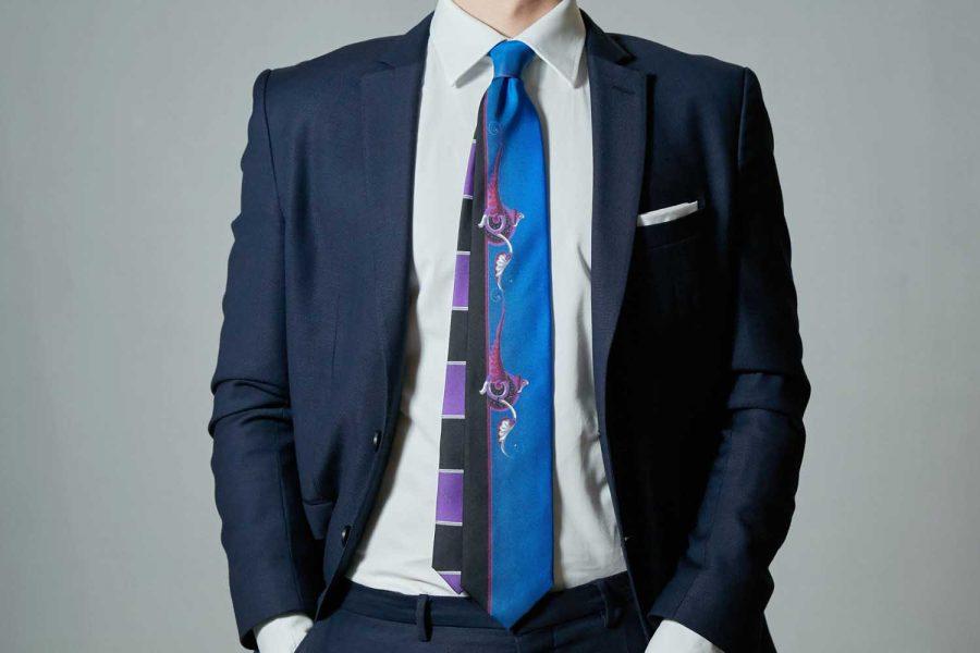 """Γραβάτα """"Simply Black"""", Double sided, Μετάξι 100%"""