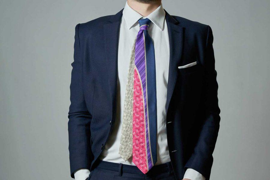 Γραβάτα με λαχούρι, Double sided, Μετάξι 100%