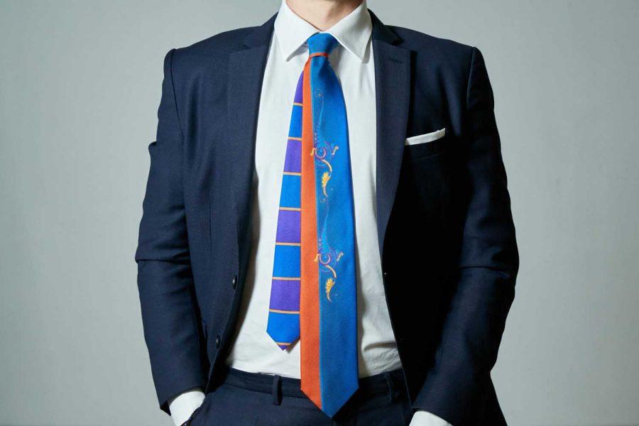 """Γραβάτα """"Simple Concept"""", Double sided, Μετάξι 100%"""
