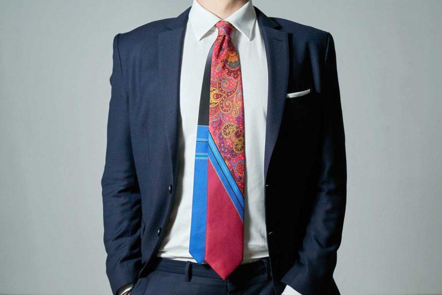 Γραβάτα μονόχρωμη - λαχούρι, Double sided, Μετάξι 100%