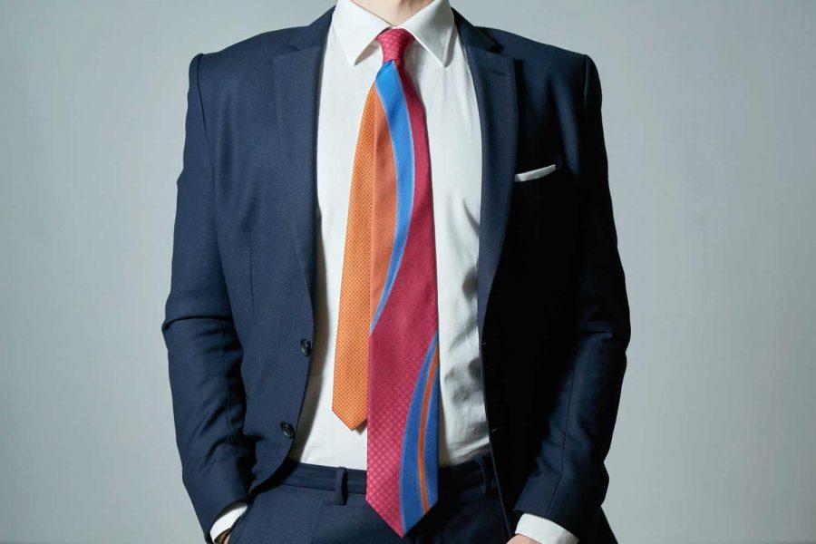 Γραβάτα fantasy, Double sided, Μετάξι 100%