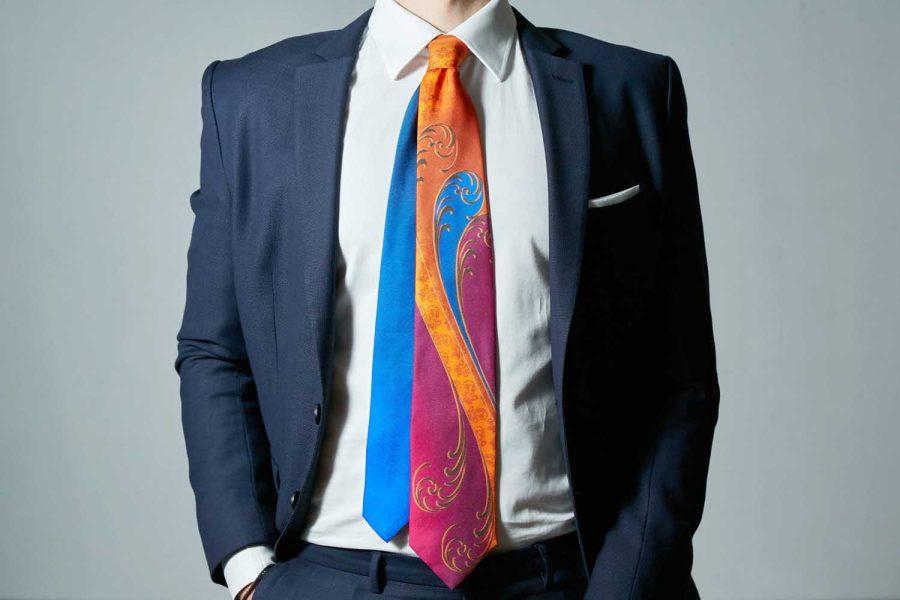 """Γραβάτα """"Ultra Rose"""", Double sided, Μετάξι 100%"""
