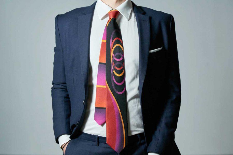 """Γραβάτα """"Concept 2021"""" , Double sided, Μετάξι 100%"""