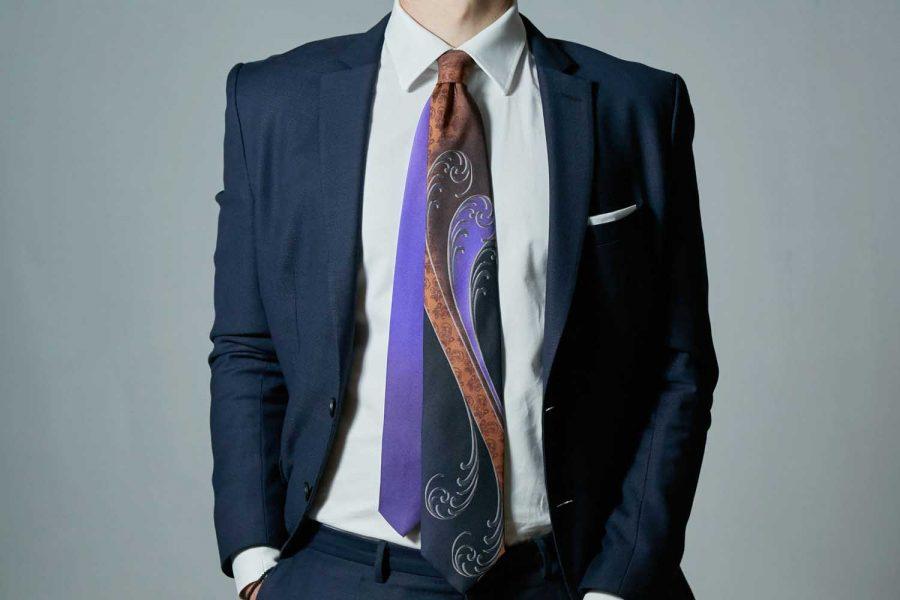 """Γραβάτα """"Austere"""", Double sided, Μετάξι 100%"""