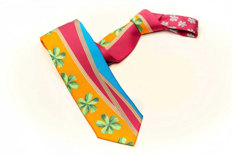 Γραβάτα fantasy - floral, Μετάξι 100%