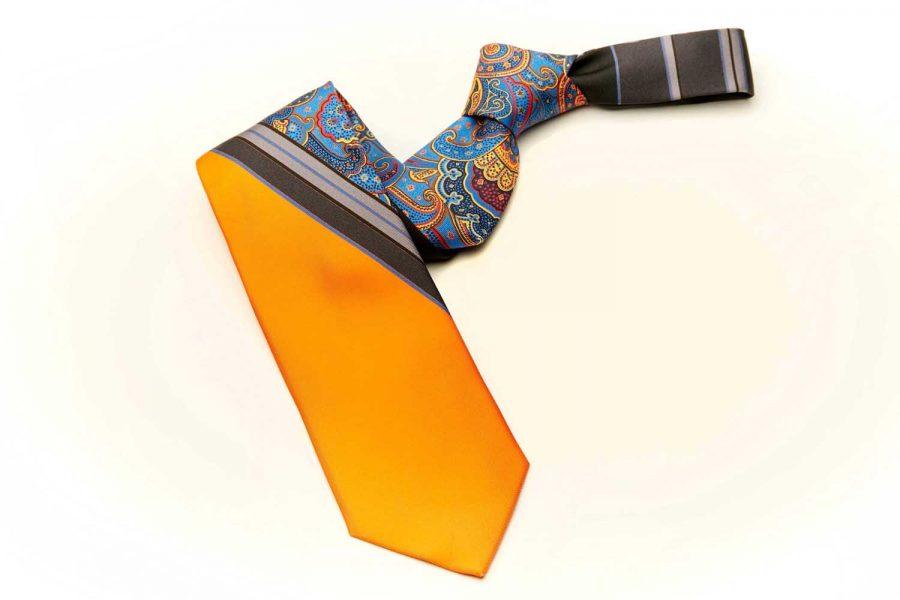 Γραβάτα λαχούρι - μονόχρωμη, Μετάξι 100%