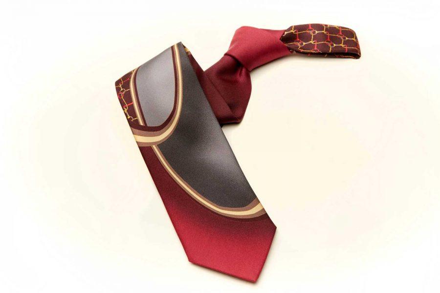 Γραβάτα με σχέδιο fantasy, Double sided, Μετάξι 100%