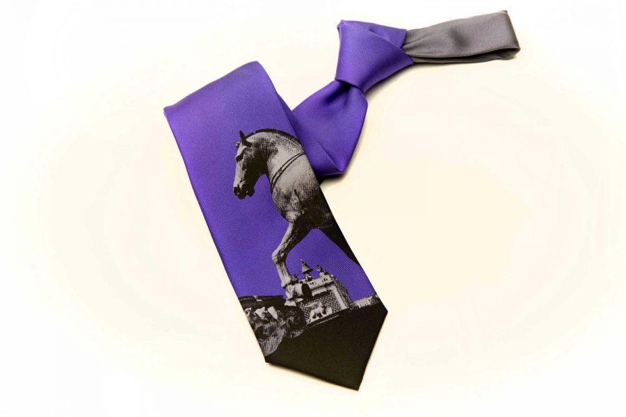Γραβάτα με άλογο, Μετάξι 100%