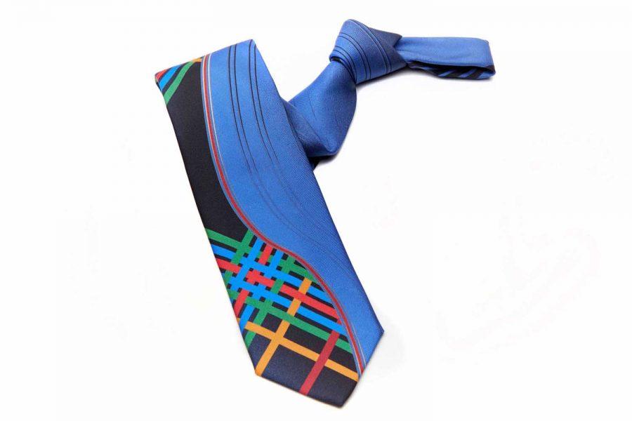 Γραβάτα καρό - fantasy, Double sided, Μετάξι 100%